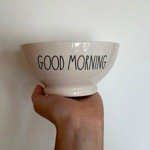 Rae Dunn GOOD MORNING white cereal bowl